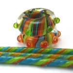 Free lampwork bead tutorial Striped disc by Laura Critchfield
