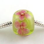 Lampwork pandora style encased floral bead tutorial by Corine Tettinger