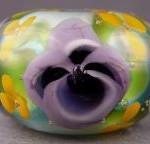 violet pansy lampwork bead tutorial mary lockwood